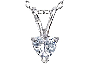 Bella Luce® .72ct Diamond Simulant Rhodium Over Silver Pendant With Chain