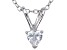 Bella Luce® .42ct Diamond Simulant Rhodium Over Silver Pendant With Chain