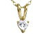 Bella Luce® .42ct Diamond Simulant 18k Gold Over Silver Pendant With Chain