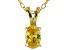 Bella Luce® .71ct Yellow Diamond Simulant 18k Over Silver Pendant With Chain