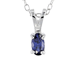 Bella Luce® .29ct Oval Tanzanite Simulant Silver Pendant With Chain