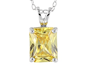 Bella Luce® 3.77ct Yellow Diamond Simulant Silver Pendant With Chain