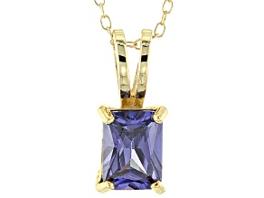 Bella Luce® 2.10ct Tanzanite Simulant 18k Gold Over Silver Pendant With Chain