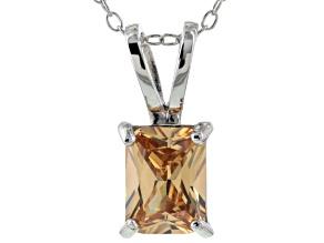 Bella Luce® 2.40ct Champagne Diamond Simulant Silver Pendant With Chain
