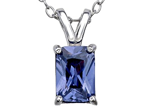 Bella Luce® 1.46ct Tanzanite Simulant Rhodium Over Silver Pendant With Chain