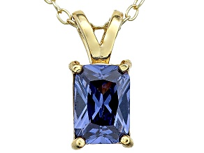Bella Luce® 1.46ct Tanzanite Simulant 18k Gold Over Silver Pendant With Chain