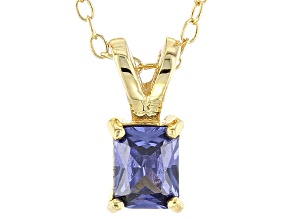Bella Luce® .65ct Tanzanite Simulant 18k Gold Over Silver Pendant With Chain