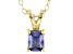 Bella Luce® .65ct Tanzanite Simulant 18k Gold Over Silver Pendant With Chain