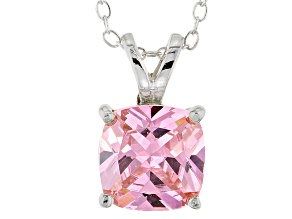 Bella Luce® 5.36ct Diamond Simulant Rhodium Over Silver Pendant With Chain