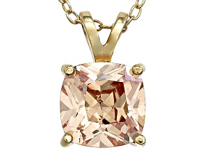 Bella Luce® 3.50ct Diamond Simulant 18k Over Silver Pendant With Chain