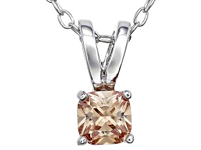 Bella Luce® .52ct Champagne Simulant Rhodium Over Silver Pendant With Chain