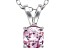 Bella Luce® .99ct Pink Diamond Simulant Rhodium Over Silver Pendant With Chain