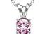 Bella Luce® .99ct Pink Diamond Simulant Rhodium Over Silver Pendant With Chain
