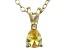 Bella Luce® .44ct Diamond Simulant 18k Gold Over Silver Pendant With Chain