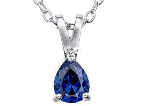 Bella Luce® .49ct Tanzanite Simulant Rhodium Over Silver Pendant With Chain