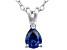 Bella Luce® .49ct Tanzanite Simulant Rhodium Over Silver Pendant With Chain