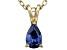 Bella Luce® .51ct Tanzanite Simulant 18k Gold Over Silver Pendant With Chain