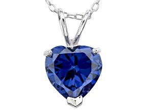 Bella Luce® 4.00ct Tanzanite Simulant Rhodium Over Silver Pendant With Chain