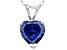 Bella Luce® 4.00ct Tanzanite Simulant Rhodium Over Silver Pendant With Chain