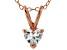 Bella Luce® .72ct Diamond Simulant 18k Gold Over Silver Pendant With Chain