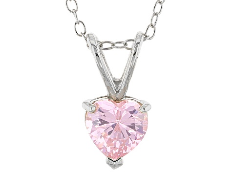 Bella Luce® .42ct Pink Diamond Simulant Rhodium Over Silver Pendant With Chain