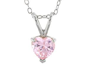 Bella Luce® .42ct Pink Diamond Simulant Rhodium Over Silver Pendant With Chain