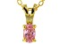 Bella Luce® .38ct Diamond Simulant 18k Gold Over Silver Pendant With Chain