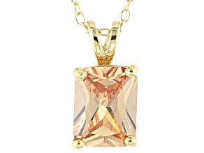 Bella Luce® 3.90ct Diamond Simulant 18k Over Silver Pendant With Chain