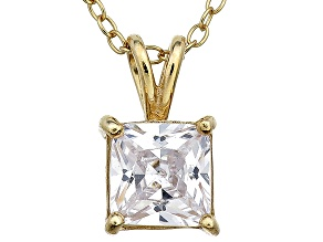 Bella Luce® 1.73ct Diamond Simulant 18k Gold Over Silver Pendant With Chain