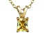 Bella Luce® .66ct Yellow Diamond Simulant 18k Over Silver Pendant With Chain