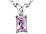 Bella Luce® .90ct Pink Diamond Simulant Rhodium Over Silver Pendant With Chain