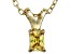 Bella Luce® .29ct Yellow Diamond Simulant 18k Over Silver Pendant With Chain
