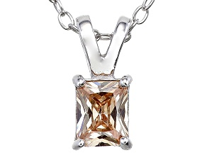 Bella Luce® .66ct Champagne Diamond Simulant Silver Pendant With Chain