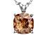 Bella Luce® 5.20ct Champagne Diamond Simulant Silver Pendant With Chain