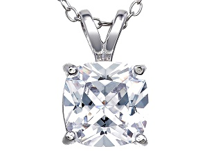 Bella Luce® 3.47ct Diamond Simulant Rhodium Over Silverpendant With Chain