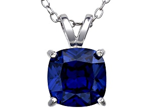 Bella Luce® 3.15ct Tanzanite Simulant Rhodium Over Silver Pendant With Chain