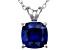Bella Luce® 3.15ct Tanzanite Simulant Rhodium Over Silver Pendant With Chain