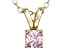 Bella Luce® .52ct Diamond Simulant 18k Gold Over Silver Pendant With Chain