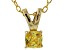 Bella Luce® .47ct Yellow Diamond Simulant 18k Over Silver Pendant With Chain