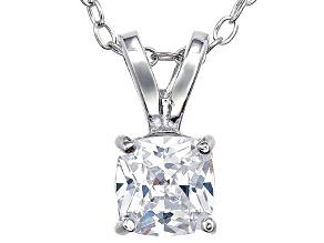 Bella Luce® .95ct Diamond Simulant Rhodium Over Silver Pendant With Chain