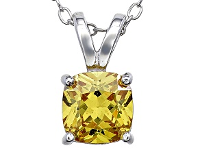 Bella Luce® 1.56ct Yellow Diamond Simulant Silver Pendant With Chain