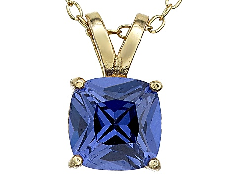 Bella Luce® 2.25ct Tanzanite Simulant 18k Silver Pendant With Chain  .