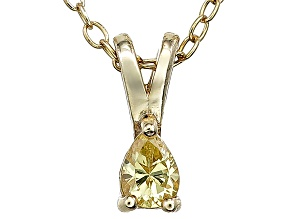 Bella Luce® .49ct Diamond Simulant 18k  Gold Over Silver Pendant With Chain