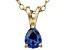 Bella Luce® .49ct Tanzanite Simulant 18k Gold Over Silver Pendant With Chain
