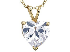 Bella Luce® 5.30ct Diamond Simulant 18k Gold Over Silver Pendant With Chain