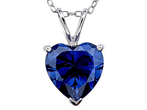 Bella Luce® 5.40ct Tanzanite Simulant Rhodium Over Silver Pendant With Chain