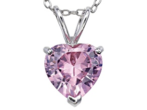 Bella Luce® 4.44ct Diamond Simulant Rhodium Over Silver Pendant With Chain