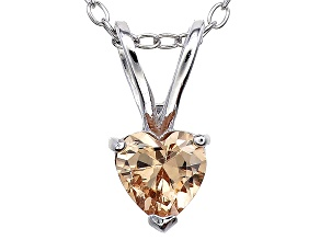 Bella Luce® .76ct Diamond Simulant Rhodium Over Silver Pendant With Chain