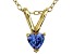Bella Luce® .42ct Tanzanite Simulant 18k Gold Over Silver Pendant With Chain
