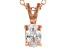 Bella Luce® .70ct Diamond Simulant 18k Gold Over Silver Pendant With Chain